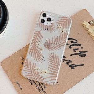 NEW iPhone 11/Pro/Max Gold Leave case